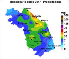 Meteo ASSAM Marche - precipitazione 16 aprile 2017